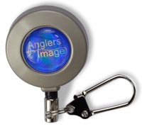 Angler's Image Metal Pin-On Retractor from W. W. Doak