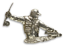 Fly Fisherman Pin from W. W. Doak