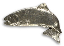 Atlantic Salmon Jumping Pin<br>Mini from W. W. Doak