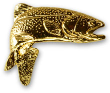 Rainbow Trout Jumping Pin from W. W. Doak