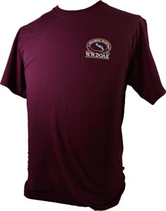 W. W. Doak Embroidered T-Shirt<br>Burgundy from W. W. Doak