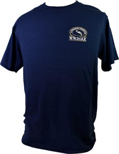 W. W. Doak Embroidered T-Shirt<br>Navy from W. W. Doak