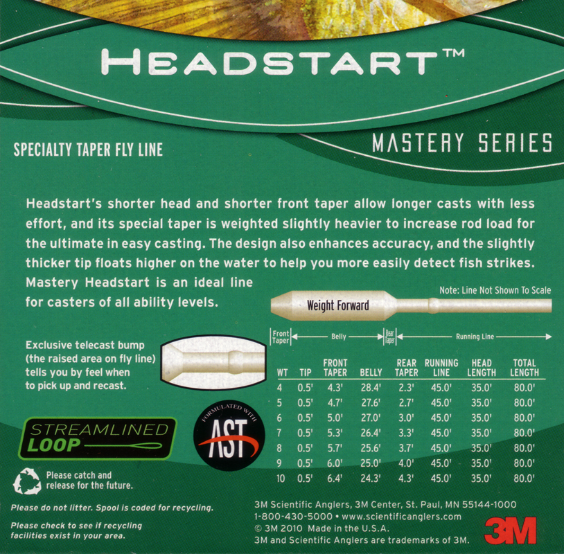 Scientific Anglers Mastery Series Quad-Tip Fly Line WF-7-F//S