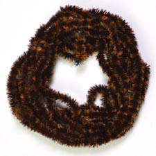 Variegated Chenille<br>Black / Brown from W. W. Doak