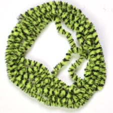 Variegated Chenille<br>Black / Green from W. W. Doak