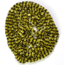 Variegated Chenille<br>Black / Yellow from W. W. Doak