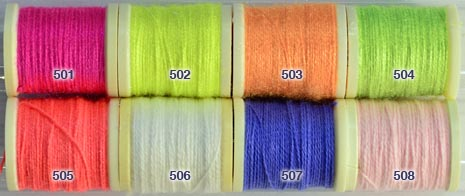 Danville Fluorescent Nylon Wool from W. W. Doak