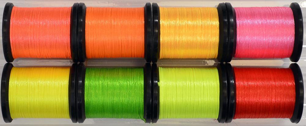 """Craft Yarn Thread Floss Fly Tying Fly Fishing /""""Uni-Neon Floss Combo Flies"""
