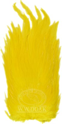 Whiting American Hackle<br>Cock Saddle - Yellow from W. W. Doak