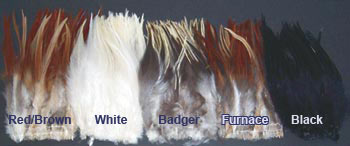 Strung Chinese Cock Saddle Hackle - 6 - 8 &quot;<br>New Larger Packaging (Approx. 1/4 oz.) from W. W. Doak