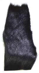 Deer Hair Strip<br>Black from W. W. Doak