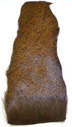 Deer Hair Strip<br>Dyed Brown from W. W. Doak