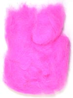 Rabbit Fur Dubbing<br>Fluorescent Pink from W. W. Doak