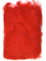 Rabbit Fur Dubbing<br>Fluorescent Red from W. W. Doak