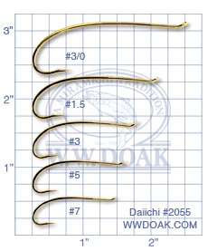 Daiichi #2055<br>&quot;Alec Jackson&quot; Spey Hooks<br>Gold from W. W. Doak