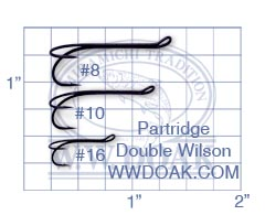 PARTRIDGE WILSON fine wire double fly hooks ref 02
