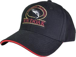 W. W. Doak Brushed Cotton Twill Hat<br>Black / Red from W. W. Doak