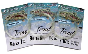 Scientific Anglers Freshwater<br>9 ft. Knotless Tapered Leaders from W. W. Doak