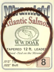 W. W. Doak Miramichi<br>Hand Tied Leaders - 12 ft. from W. W. Doak