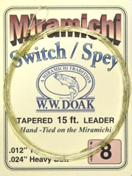 W. W. Doak Switch/Spey<br>Hand Tied Leaders - 15 ft. from W. W. Doak