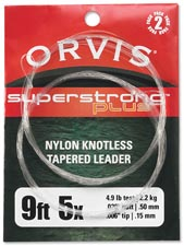 Orvis &quot;Super Strong Plus&quot;<br>9 ft. Knotless Tapered Leaders from W. W. Doak